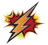 Fototapety Thunder Bolt, Comic Book Style