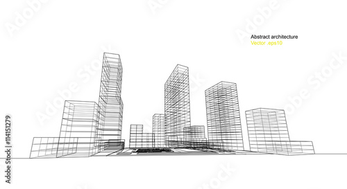city view, architecture abstract