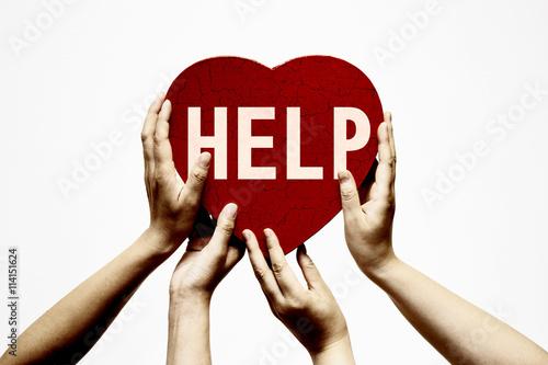 Poster 助けを求めるイメージ
