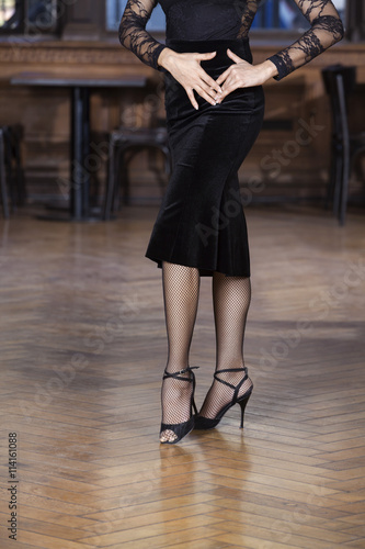 Low Section Of Woman Performing Tango Plakát