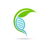 Nursery Plant DNA logo. Vector graphic design
