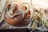 Homemade bread with ingredients - 114171417