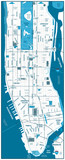 Manhattan road map