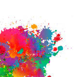 Abstract colorful splash, watercolor background. - 114184210