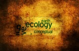 Ecology earth grunge concept