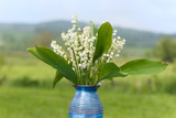 Lily of the valley in vase