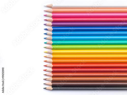 Poster Color pencils composition