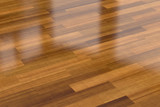 Dark wood parquet floor, background - 114223687