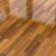 Dark wood parquet floor, background - 114223893