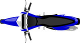 Fototapety classic enduro motorcycle isolated top view