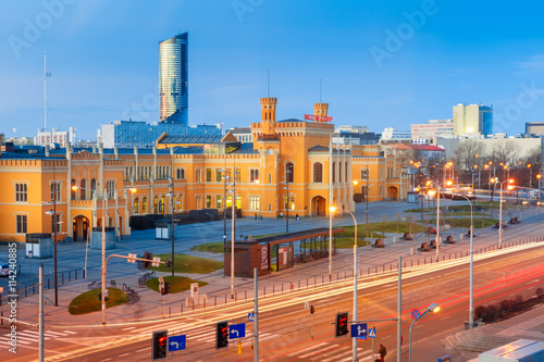 Fototapety, obrazy : Main Railway Station in the morning in Wroclaw, Poland