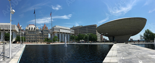 Panoramic view of State government  buildings in Albany, New Yor - 114267834