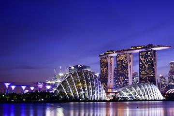 シンガポール・マリーナベイエリア 夕景