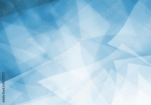 abstract blue background with layered shapes and transparent material textured design