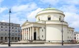 Warszawa, Kościół Świętego Aleksandra na Placu Trzech Krzyży, wybudowany w stylu klasycyzmu w roku 1826