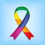 Rainbow lbgt ribbon, memorial Orlando lbgt ribbon, vector illustration - 114287030
