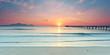 Sonnenaufgang am Horizont, Mallorca, Strand