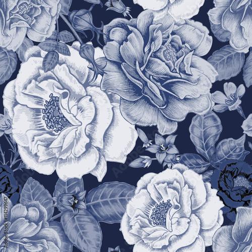 Floral vintage seamless pattern - 114299647