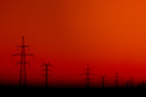silhouette of Power Line