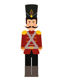 Toy Concept Represented By Soldier Icon  And Flat Illustration  Wall Sticker