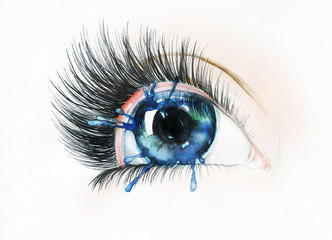 eye. abstract watercolor illustration  © Anna Ismagilova