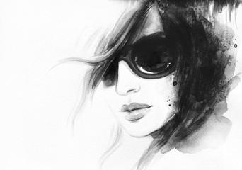 abstract woman portrait. watercolor illustration  © Anna Ismagilova