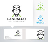 Panda vector logo with business card template