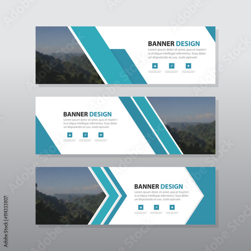 Blue abstract corporate business banner template horizontal blue abstract corporate business banner template horizontal advertising business banner layout template flat design set accmission Choice Image