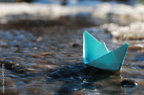 paper boat in a pool © alexkich