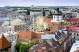 Widok z lotu ptaka starego miasta w Lublinie