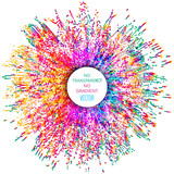 Colorful dotted abstract illustration. Color splash & explosion background. - 114374098