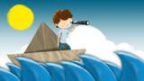 Descubriendo el mundo sobre un barco de papel