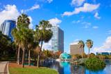 Orlando skyline fom lake Eola Florida US - 114381648