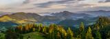Landscape in Pieniny panorama