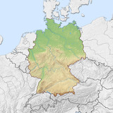 Relief map of Germany