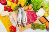 ingredienti misti della cucina italiana - 114389262