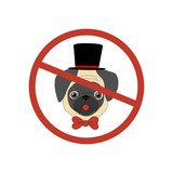 No dog entry icon