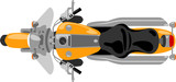 Fototapety classic chopper cruise motorcycle isolated top view