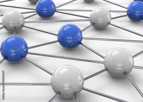 fototapeta na ścianę Network Concept - 3D