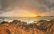 Quadro Romantic untouched tropical beach on sunset, Sri Lanka