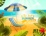 Tropical Resort Cartoon Illustration