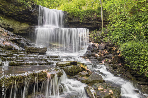 West Milton Cascades, a waterfall in Miami County, Ohio