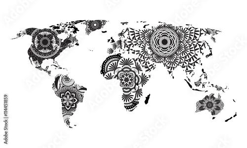 Mandala World Map Vector Buy Photos Ap Images Detailview