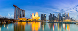 Singapore Skyline and view of Marina Bay at Dusk - 114459402
