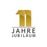 Einfach Gold Jubiläums Logo Jahre 11