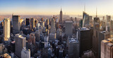 New York skyline at sunset, USA. - 114497801