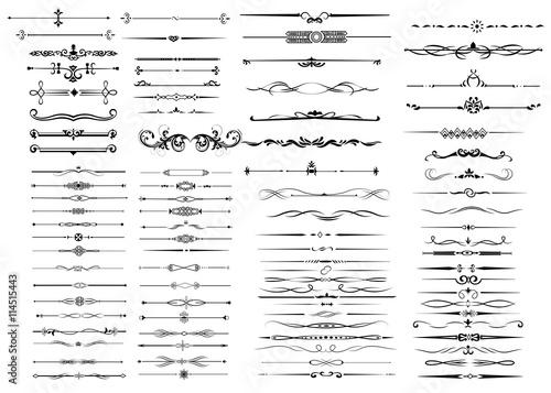 Dekorelemente für Grußkarten, Briefpapier und Urkunden - 114515443