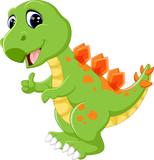 Cartoon cute dinosaur