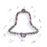people bell shape 3d