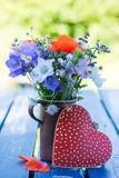Wildblumenstrauß mit Herz